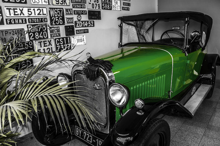 Old timer in garage Editorial