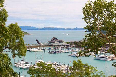 whitsundays: Hamilton Island Harbour Stock Photo