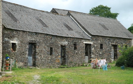 homestead: Old homestead in Brittany in noon