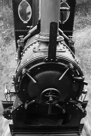 narrow gauge: Small historic locomotive on the narrow gauge railway in Slovakia
