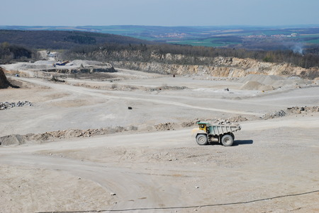 environmental damage: Stone quarry in south Moravia