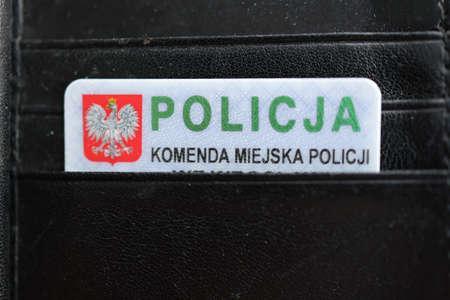 ID card of a Polish policeman - document.