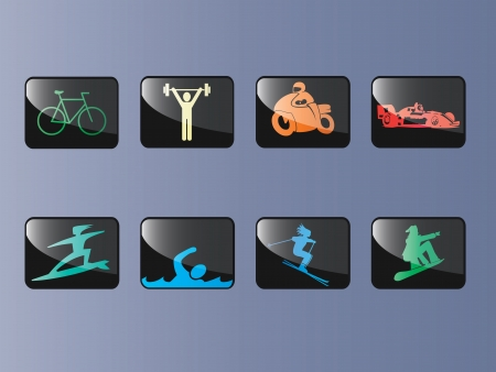 Vector illustrations of various sports Vector