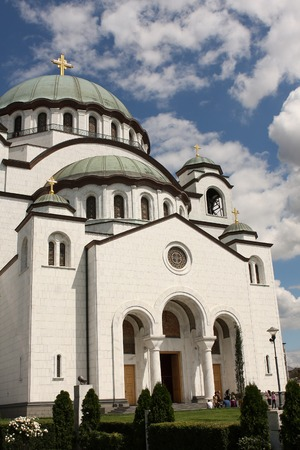 Temple of St. Sava ,located in Belgrade,capitol of Serbia photo