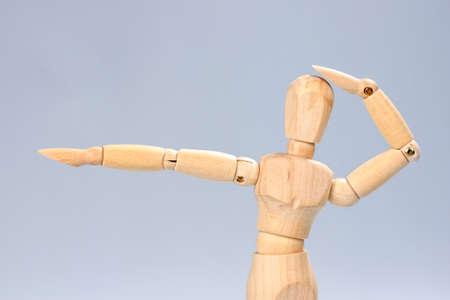 artists dummy: Wooden mannequin posing