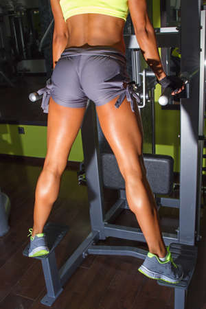 pullups: Fitness girl doing pull-ups Stock Photo