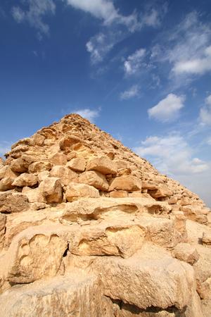 egyptology: Egyptian pyramid Stock Photo