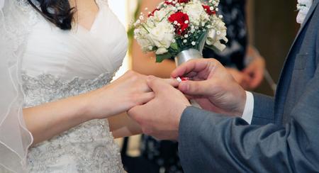 marriageable: Exchange of wedding rings