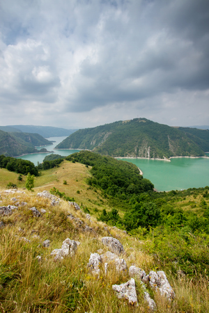 serbia: Lake Uvac in Serbia Stock Photo