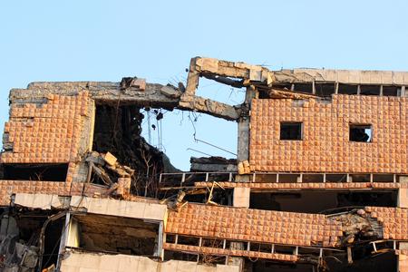 bombed: Bombed Building In Belgrade,Serbia