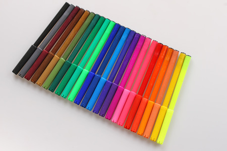 markers: Colorful markers isolated Stock Photo