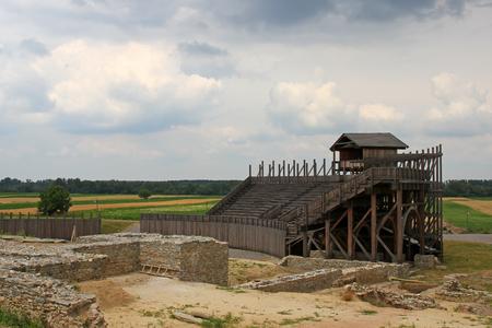 kostolac: Reconstruction of Roman amphitheater Stock Photo