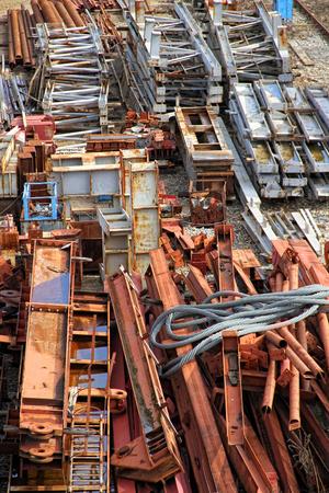 scrapyard: Scrapyard of building material Stock Photo