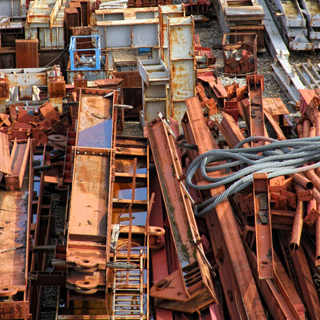 building material: Scrapyard of building material Stock Photo