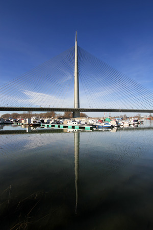serbia: New bridge in Belgrade,Serbia