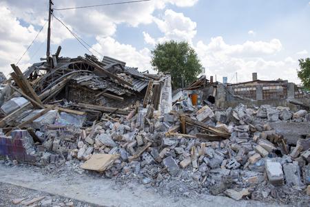 quake: Demolished buildings Stock Photo