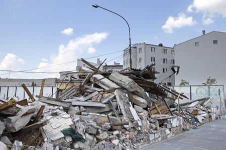demolished: Demolished buildings Stock Photo