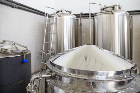 fermenting: Small brewery,craft beer production