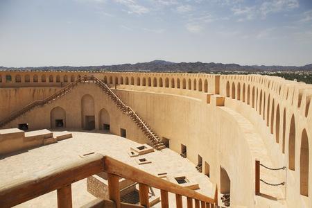 Vieux fort de Nizwa à Oman Banque d'images