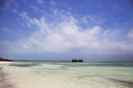 Tropical beach in zanzibar island,tanzania