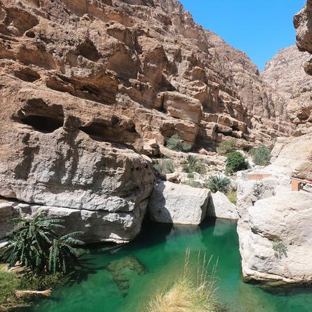 Landscape in Wadi Shab, Oman