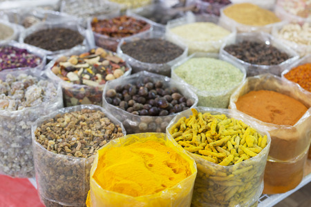 Nuts and spices in the old souq of Nizwa, Oman