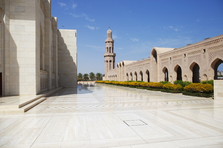 Sultan Qaboos Grand Mosque in Muscat,Oman 스톡 콘텐츠