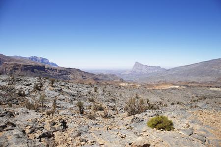 Al Hajar Mountains in Oman 스톡 콘텐츠