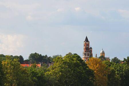 Gardos tower,view through the trees,Zemun,Serbia
