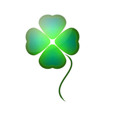clover icon: Green clover icon on white background