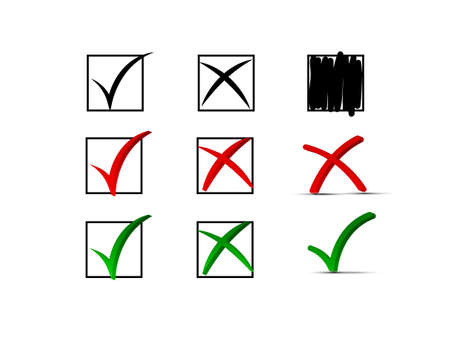 disapprove: Set of check marks (true or false)