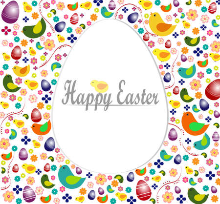 egg shape: Happy Easter - egg shape background