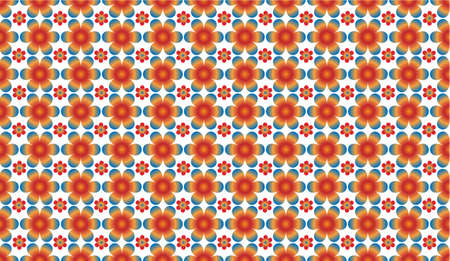 repeated: Seamless floral pattern - colorful flowers repeated
