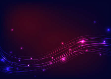 luminosity: Colorful background with luminous lines Illustration