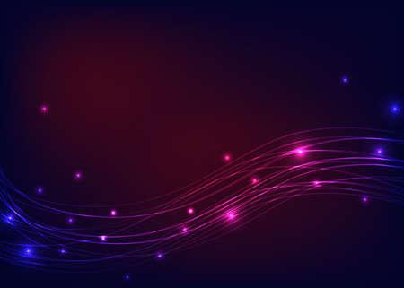 luminous: Colorful background with luminous lines Illustration