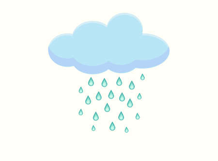 raining: Simple illustration of raining cloud