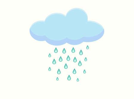 raining: Simple illustration of raining cloud