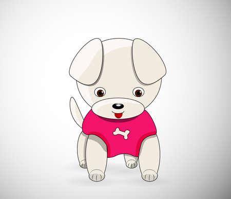cute cartoon dog: Cute cartoon dog character wearing sweater- vector