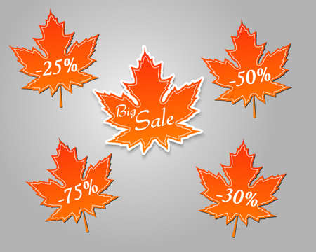 cost reduction: Big autumn sale leaf stickers