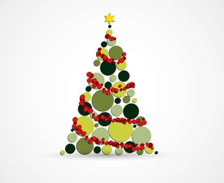 Abstract Christmas tree geometric illustration