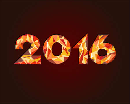 Happy New Year geometric colorful background
