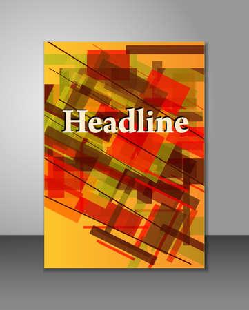 Colorful brochure or book design with geometric shapes Ilustração