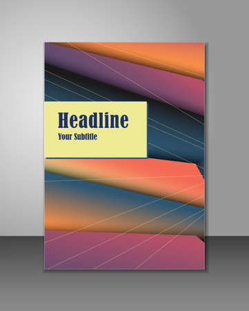 Simple colorful brochure design, can be used as corporate leaflet, magazine or report