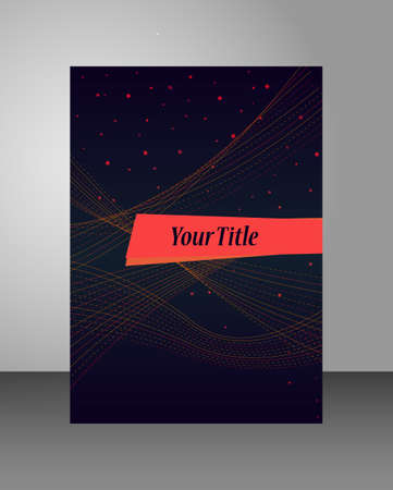 luminance: Dark cover template with luminance lines. Can be used for corporate brochure, report or book.