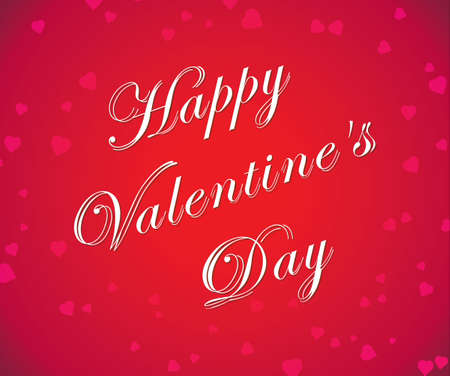 amore: Happy Vallentines day - white text on red background