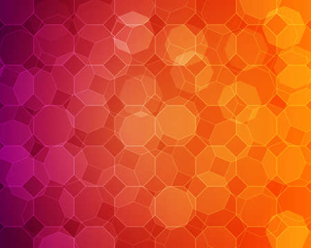 Simple colorful heptagon background with pink to orange gradient