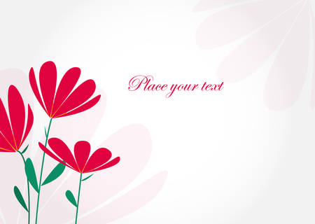 Simple invitation card with flowers and place for your text