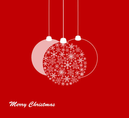 Simple Christmas ball illustration - can be used as christmas card or invitation with editable text Ilustração