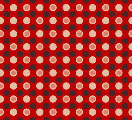 Simple seamless Red pattern with polka dots