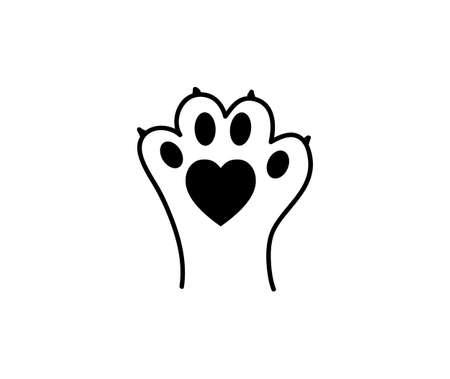 I love animals - Animal paw print.
